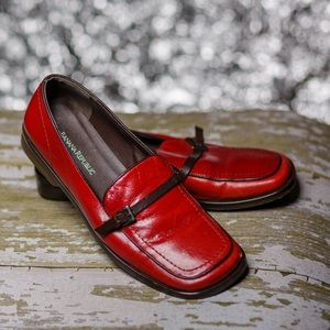 Banana Republic Red Leather Loafer
